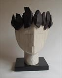 Ebony Tree Crown by Jilly Sutton ARBS, Sculpture, Wood