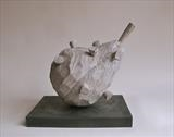 'Pear with Cloves' by Jilly Sutton ARBS, Sculpture