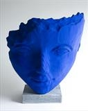 The Blue Drifter by Jilly Sutton, Sculpture, Bronze or Cast Olive stone