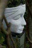 The Ponderer by Jilly Sutton ARBS, Sculpture, stone cast from original wood carving