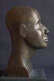 Tuareg Head by Jilly Sutton, Sculpture, Bronze