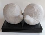 Two Fat Quails by Jilly Sutton ARBS, Sculpture, Stone cast from wood carving