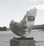 Wistful Wood by Jilly Sutton ARBS, Sculpture, Stone cast from original wood carving