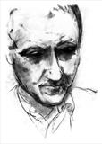 Andrew Motion Portrait. Poet Laureate 1999-2000 by Jilly Sutton, Drawing