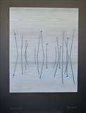 DART REEDS BIRDS by Jilly Sutton ARBS, Painting, Painted Wood