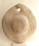 Elm Seed Pod by Jilly Sutton, Sculpture, Bronze or olivestone