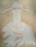 Soldier Painting by Jilly Sutton, Painting, Gesso & Oil