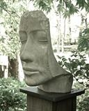 Tidal Thinker by Jilly Sutton ARBS, Sculpture, Cast from wood carving on slate